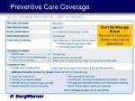 preventive care coverage