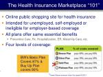 the health insurance marketplace 101