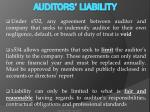 auditors liability