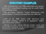 statutory examples