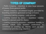 types of company