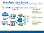 large government agency flexible architecture to support rapidly changing business needs