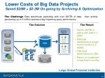 lower costs of big data projects saved 20m 2 3m on going by archiving optimization