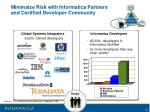 minimaize risk with informatica partners and certified developer community