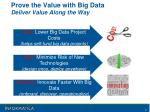 prove the value with big data deliver value along the way