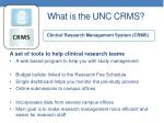 what is the unc crms