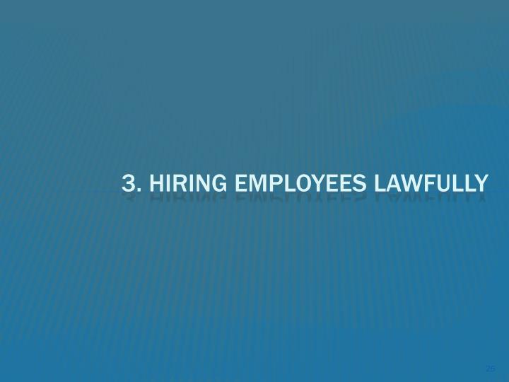 3. Hiring Employees lawfully
