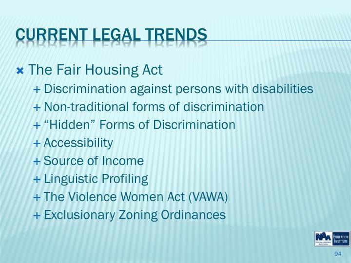 The Fair Housing Act