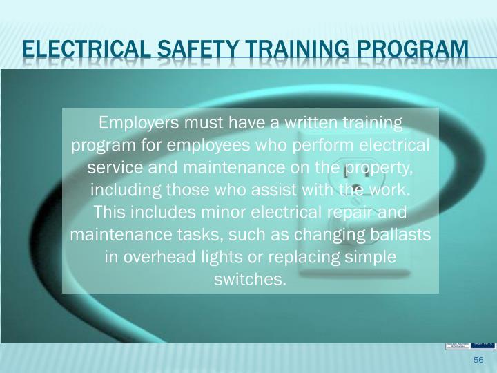 Electrical Safety Training Program