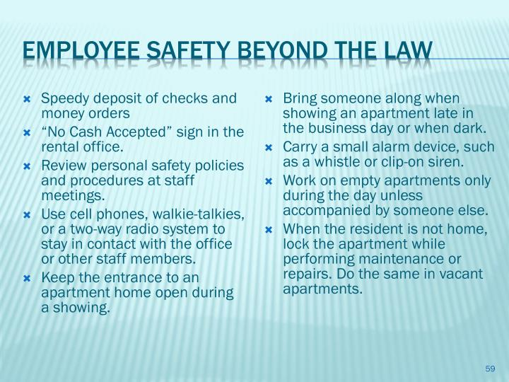 EMPLOYEE Safety Beyond The Law