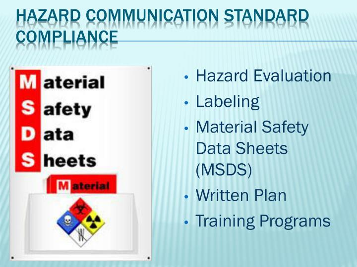 Hazard Communication Standard Compliance