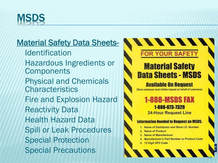Material Safety Data Sheets-