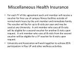 miscellaneous health insurance