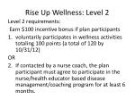 rise up wellness level 2