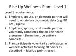 rise up wellness plan level 1