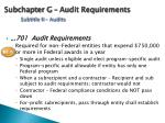 subchapter g audit requirements subtitle ii audits
