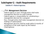 subchapter g audit requirements subtitle iv federal agencies