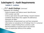 subchapter g audit requirements subtitle v auditors1