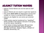 adjunct tuition waivers