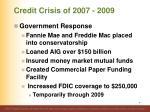 credit crisis of 2007 20092