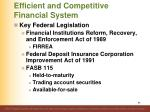 efficient and competitive financial system4