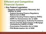 efficient and competitive financial system7