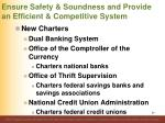 ensure safety soundness and provide an efficient competitive system3