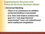 organizational structure and financial services business model12