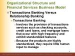 organizational structure and financial services business model4
