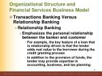 organizational structure and financial services business model5