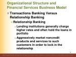 organizational structure and financial services business model6