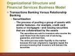 organizational structure and financial services business model7