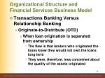 organizational structure and financial services business model8