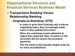 organizational structure and financial services business model9