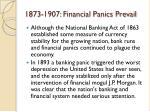 1873 1907 financial panics prevail