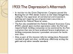 1933 the depression s aftermath