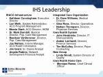 ihs leadership