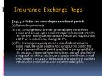 insurance exchange regs