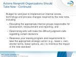 actions nonprofit organizations should take now continued