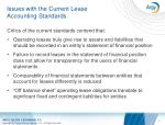 issues with the current lease accounting standards