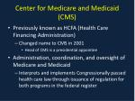 center for medicare and medicaid cms