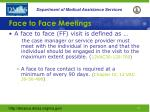 face to face meetings