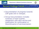 recent findings trends cont d