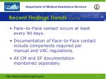 recent findings trends cont d3