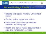 recent findings trends cont d4