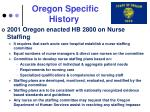 oregon specific history
