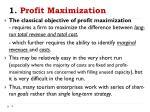 1 profit maximization
