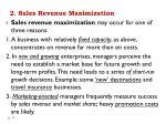 2 sales revenue maximization