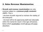 2 sales revenue maximization1