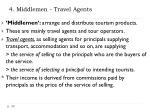 4 middlemen travel agents